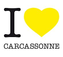 I ♥ CARCASSONNE Photographic Print