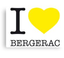 I ♥ BERGERAC Canvas Print