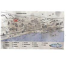 Arcadia Bay Map Photographic Print