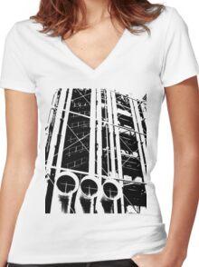 Centre Pompidou Women's Fitted V-Neck T-Shirt