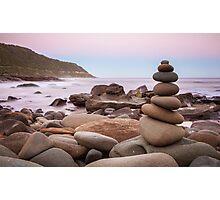 Zen Stones at Twilight Photographic Print