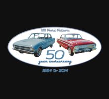 XM Falcon 50 year anniversary (white background) Kids Clothes