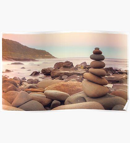 Zen Stones at Twilight Poster