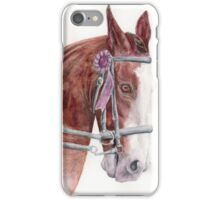 Clydesdale Draft Horse Drawing iPhone Case/Skin