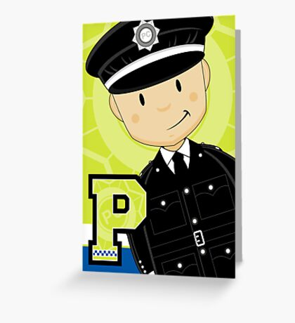 P is for Policeman Greeting Card
