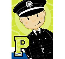 P is for Policeman Photographic Print