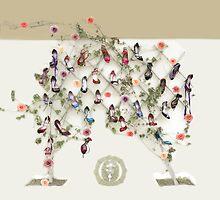 Shoes, roses and a geneology tree by Aikaterini  Koutsi Marouda