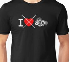 I love spear lionfish (black) Unisex T-Shirt