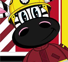 Cute Zebra Fireman by MurphyCreative