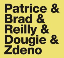 Boston Bruins 2nd Line - Helvetica - Black Text by msquared64