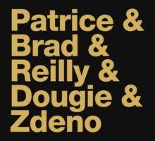 Boston Bruins 2nd Line - Helvetica - Gold Text by msquared64