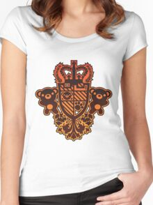 Embroidered_Bear Women's Fitted Scoop T-Shirt