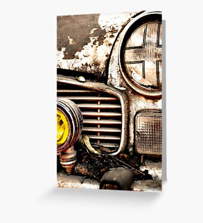 Vintage Abandoned Cars Abstract  Greeting Card