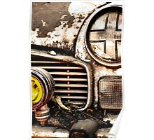 Vintage Abandoned Cars Abstract  Poster