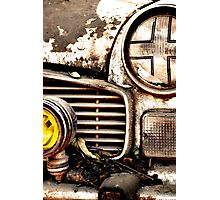 Vintage Abandoned Cars Abstract  Photographic Print