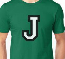 Letter J two-color Unisex T-Shirt