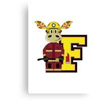 F is for Fireman Canvas Print