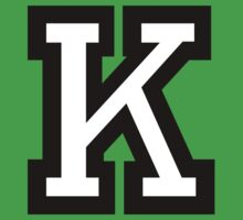 Letter K two-color by theshirtshops