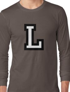 Letter L two-color Long Sleeve T-Shirt