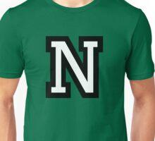 Letter N two-color Unisex T-Shirt