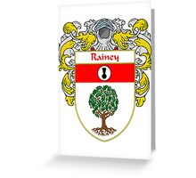 Rainey Coat of Arms / Rainey Family Crest Greeting Card