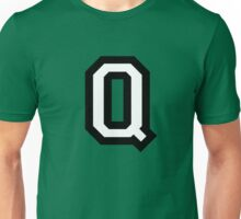 Letter Q two-color Unisex T-Shirt