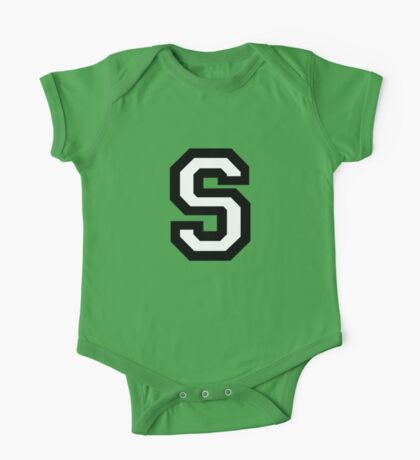 Letter S two-color One Piece - Short Sleeve