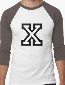 Letter X two-color Men's Baseball ¾ T-Shirt