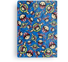 Cute Fireman Pattern Metal Print