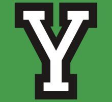 Letter Y two-color by theshirtshops