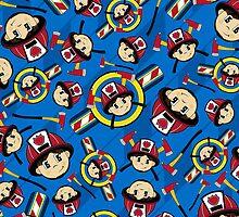 Cute Fireman Pattern by MurphyCreative