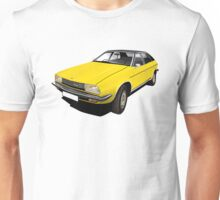 Austin Morris Princess, ADO71 illustration yellow  Unisex T-Shirt
