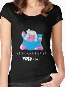 PokeFace DittoGaGa Women's Fitted Scoop T-Shirt