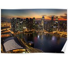 Singapore Cityscape Poster
