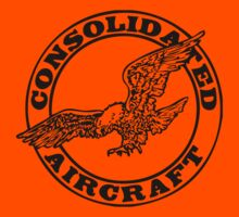 Consolidated Aircraft Logo (Black) Kids Clothes