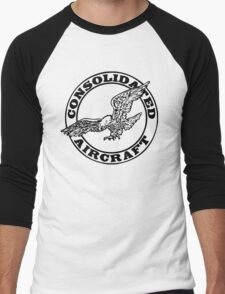 Consolidated Aircraft Logo (Black) Men's Baseball ¾ T-Shirt