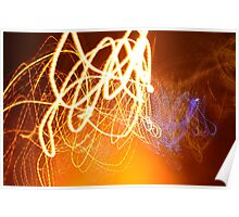 Blue Whips And Fire light Poster