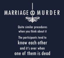 Marriage & Murder - white by PurpleSparklies