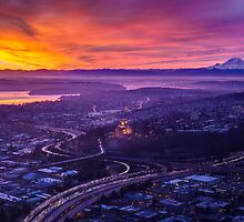 Seattle SODO Sunrise by mikereid