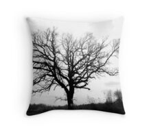 Lonesome Tree On Farm Throw Pillow