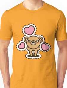 Bear_and_Hearts Unisex T-Shirt