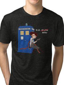 H.G. Who - grey text Tri-blend T-Shirt