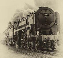 Steam Train Britannia by Judi Lion