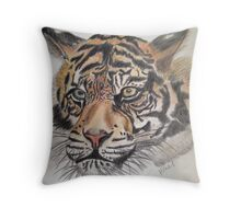 The tiger watches over you  Throw Pillow