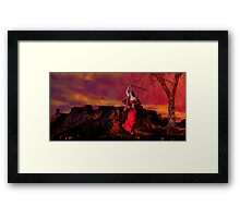 Catphrodite's Red Wind - part 3 Framed Print