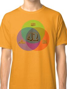 NEW Venn Diagram: Life, the Universe & Everything (for light shirts) Classic T-Shirt