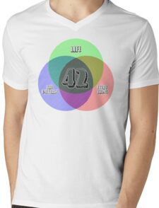 NEW Venn Diagram: Life, the Universe & Everything (for light shirts) Mens V-Neck T-Shirt
