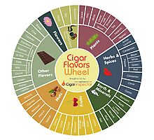 Cigar Flavors Wheel poster Photographic Print