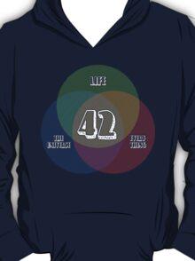 NEW Venn Diagram: Life, the Universe & Everything (for dark shirts) T-Shirt