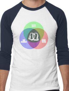 NEW Venn Diagram: Life, the Universe & Everything (for dark shirts) Men's Baseball ¾ T-Shirt